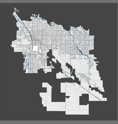 Detailed map tucson city cityscape royalty vector