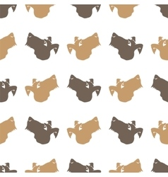 Dog Seamless Animal Pattern vector image