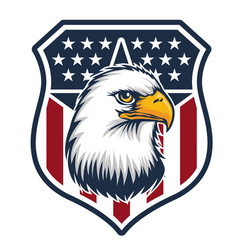 Eagle made in usa united states america logo vector