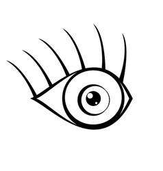 Eye icon on white background vector