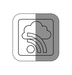 Figure cloud wife network icon vector