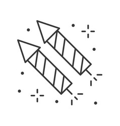 Firecracker icon amusement park related line style vector