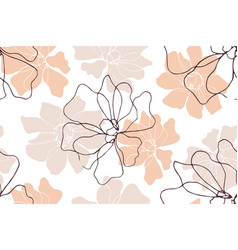 Floral seamless pattern with blossom flowers vector
