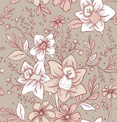 flowers pattern seam vector image