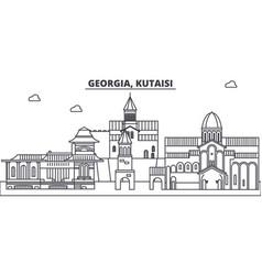 georgia kutaisi line skyline vector image