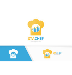 Graph and chef hat logo combination vector