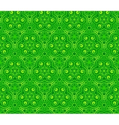 Green abstract curls seamless pattern vector image