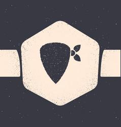 Grunge cowboy bandana icon isolated on grey vector