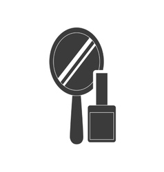 hand mirror with makeup product icon vector image