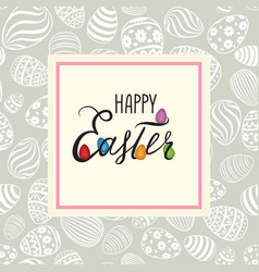 Happy easter greeting card holiday bakground with vector