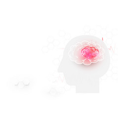 Human head and brain stroke on white background vector