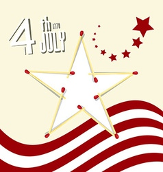 Independence Day - 4 th July Retro with Amer vector image