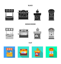 Isolated object amusement and store symbol set vector
