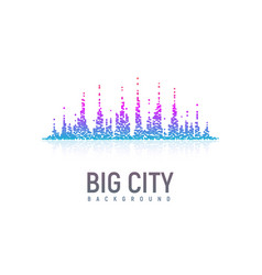 Isolated stylized colorful city landscape like a vector