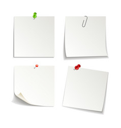 Isolated white sticky notes vector