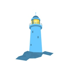 Lighthouse Isolated on White vector