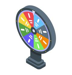 Lottery wheel icon isometric style vector