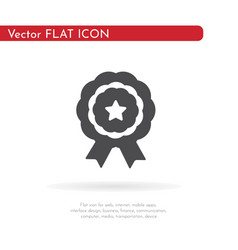 medal icon for web business finance and vector image