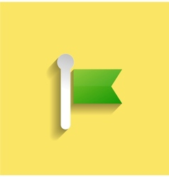 navigation icon modern flat design vector image