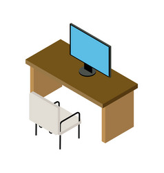 office desk icon vector image