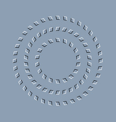 Optical effect op art abstract illusion vector