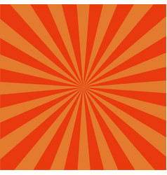 orange radial sunrise retro backgroundsunburst vector image