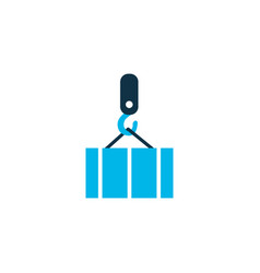 overhead crane icon colored symbol premium vector image