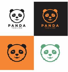 panda head graphic animal asian logo vector image