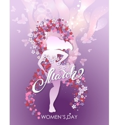 Party flyer for International Women Day vector image