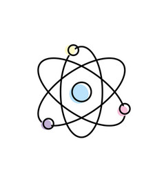 Physics orbit chemistry science education vector