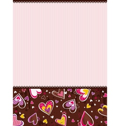 Pink valentines background vector