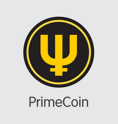 Primecoin - cryptographic currency logo vector