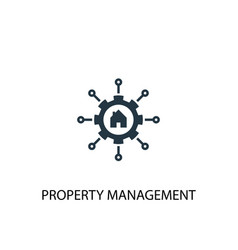 Property management icon simple element vector