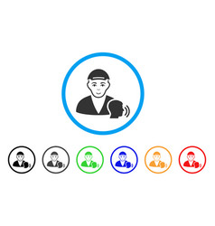Psychotherapist talking rounded icon vector