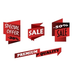 Red origami sale icons vector image vector image