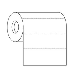 roll paper towel in monochrome silhouette vector image