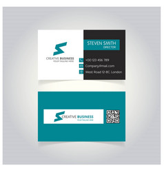 s letter logo minimal corporate business card vector image