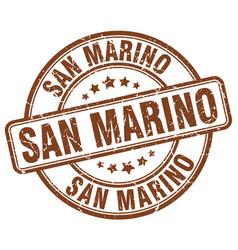 San marino brown grunge round vintage rubber stamp vector
