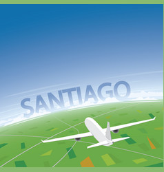 Santiago flight destination vector