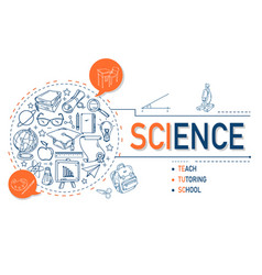 science icons collection design vector image