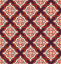 seamless ornament squares on a diagonal vector image