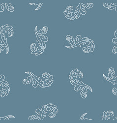 seamless pattern with white curls vector image