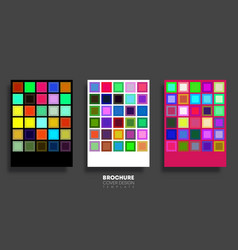 set backgrounds with multicolored squares vector image