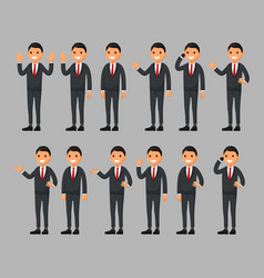 set of businessman cartoon vector image