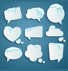 Set various speech bubbles decorated vector