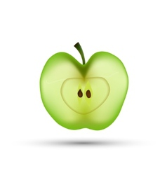 Slice of Apple isolated vector image