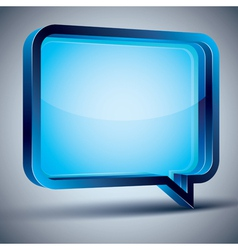 Speech bubble 3d modern style vector image