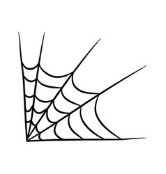 spider web symbol icon design beautiful isolated vector image