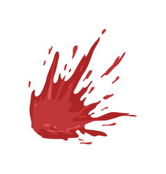Splattered blood stains on a vector