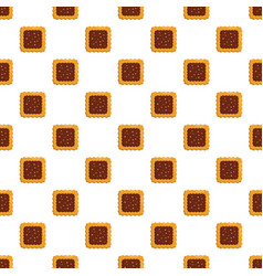 Square biscuit pattern seamless vector
